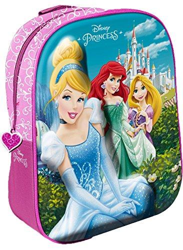 Star Licensing Disney Princess - Zaino 3D Zainetto per bambini, Multicolore
