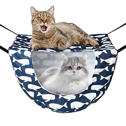 Cat Cage Hammock Pet Hanging Hammock Bed Double Layer Cage Pet Bed Ferret Hammock Adjustable Soft...