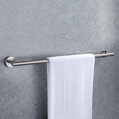 KES Handtuchhalter ohne Bohren Bad Handtuchstange Selbstklebend Handtuch Halter Edelstahl SUS304 Badetuchhalter Wandmontage Organizer 70CM Gebürstet, A2000S70BDG-2