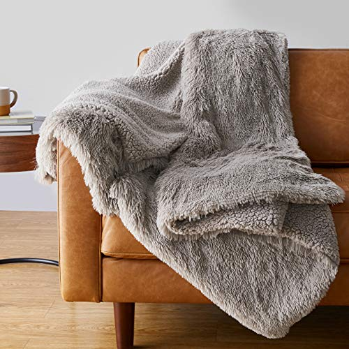 FAUX FUR FLANNEL SHERPA THROW FLEECE BLANKET SINGLE MINK BEST DOUBLE SOFA U6Z5