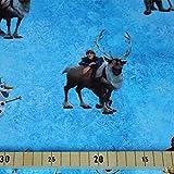 Jersey Stoffe Frozen Olaf und Kristoff 1,00m x VB