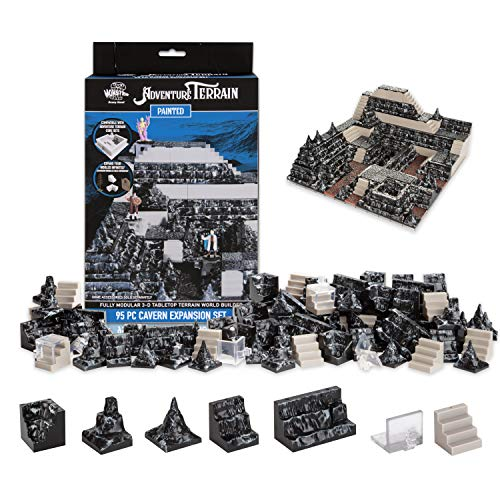Monster Adventure Terrain - 95pc Cavern Expansion Set - Fully Modular and Stackable 3-D Tabletop World Builder Compatible with DND Dungeons Dragons, Pathfinder, and All RPG Games