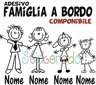 famiglia Sposini a Bordo adesivo bimbo // bambina // neonato a bordo adesivo macchina bimbi bambini