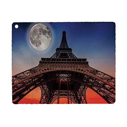 Bumina Eiffel Tower Decor Case for iPad 9.7 2018 2017(6th Gen, 5th Gen)/iPad Air 2/iPad Air,PU Leather Case with Stand Function/Auto Sleep Wake Up Navy Red