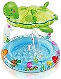 Fast Fun piscinas al aire libre Piscina for niños Set Familia portátiles Jardines Piscina resistente al desgaste PVC grueso marina piscina for adultos cuentos for niños, Blow Up piscina 102x107CM