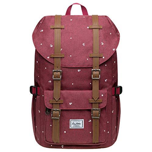 KAUKKO Schulranzen Damen Herren Studenten 15 Zoll Backpack für 12