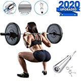CHIYA Barra de musculación de Pesas con 2 Collares,Mangos Antideslizantes,Unisex Adulto,Barra de Entrenamiento para Biceps y Triceps