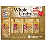 Lance Whole Grain Cheddar Cheese Crackers - 3 Boxes of 8 Individual Packs by Lance