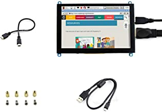 Waveshare Capacitive Touch 5inch Raspberry pi LCD HDMI Display Module 800 * 480 High Resolution HDMI Interface Screen Supports Multi Mini-PCs Multi Systems