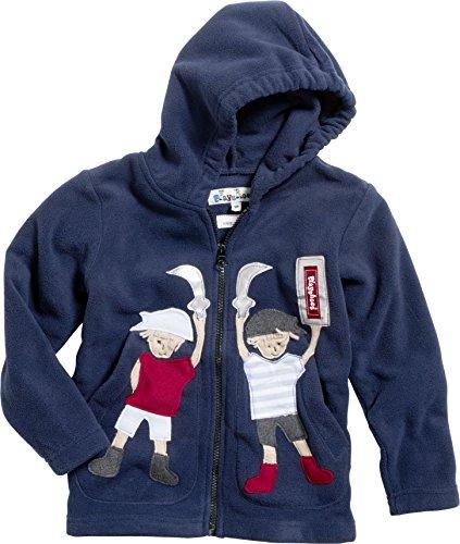 Playshoes Unisex - Kinder Jacke  Kuschlige Fleece-Jacke mit Kapuze von Playshoes, mit Motivapplikationen und Reflektorstreifen, Art. 420013, Gr. 92 , Blau (11 marine )