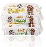 PAWISE - Toallitas limpiadoras hipoalergénicas y desodorizantes para perros y gatos (paquete de 2) Toallitas naturales para mascotas
