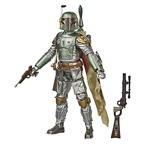 Hasbro Star Wars The Black Series - Boba Fett (Action Figure 15 cm da Collezione, Carbonized Collection, ispirato al Film Star Wars: L'Impero Colpisce Ancora)