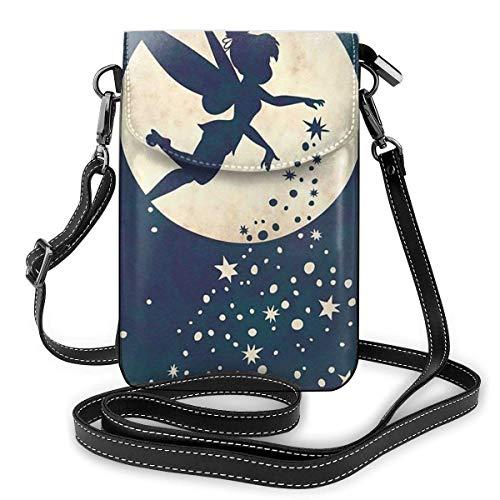 Bolso bandolera para mujer, diseño de Campanilla pequeña con ranuras para tarjetas de crédito