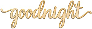 Woodums Goodnight Script Word Wood Sign Home Décor Wall Art for Gallery Wall - Unfinished 18