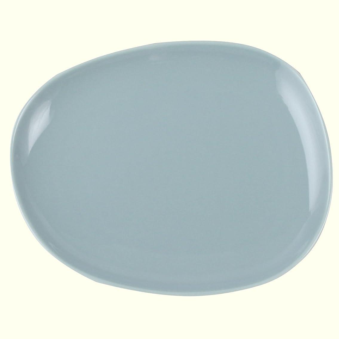 切断するボトルネック制限する白山陶器 プレートM グレイ (約)18×15.5cm  ペトラ PETRA 波佐見焼 日本製