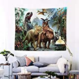 Lumumanber Dinosaur Tapestry Posters for Boys Room Decor,3D Printed Kids Tapestry Wall Hanging Animal Tapestry for Bedroom, for Children's Birthday Party 60' Long x 51' Wide