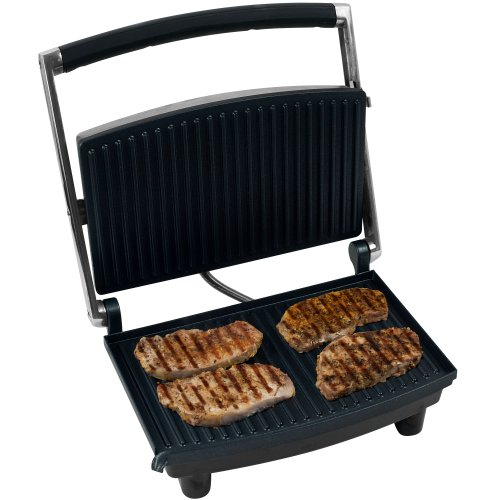 Chef Buddy 80-1840 Panini Press Grill and Gourmet Sandwich Maker for Healthy Cooking by