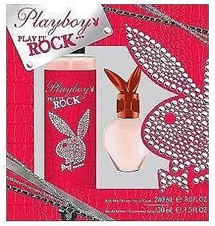 Playboy Play It Rock Body Spray and Eau de Toilette Spray Two Piece Gift Set