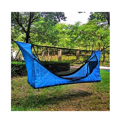 Camping Hammock Hamaca de Acampada,Conjunto Carpa con Toldos Nylon Ligero,Refugio a Prueba Lluvias al Aire Libre,Mochilero Playa de Viaje Senderismo Suspensión,Blue