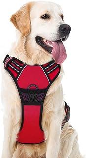 Harnais Super Dog Harnais Anti-Traction réglable Harnais de Poitrine Oxford en Nylon réfléchissant pour Grands, Moyens et ...