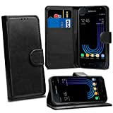Galaxy J3 2017 J330 Cases - Black Premium Wallet Leather