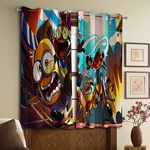 Vorhänge für Schlafzimmer Minions Verdunkelungsvorhänge für Schlafzimmer W42 x 54 L