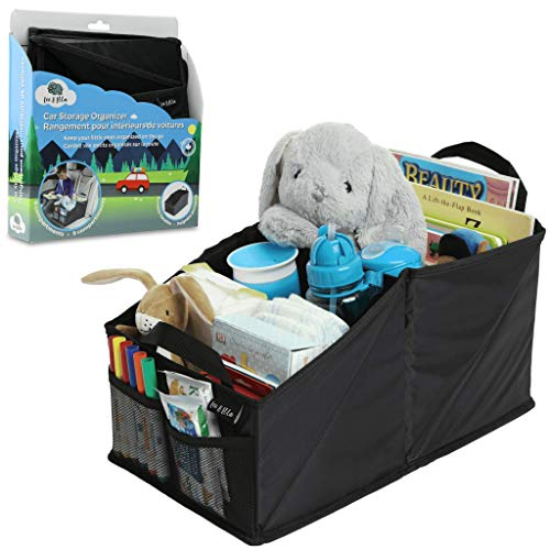 Leo&Ella Backseat Car Organizer For Kids - Fits All Road Trip Essentials & Car Travel Accessories For Long Trips - Collapsible 8 Compartment, Kid Car Organizer Is Best For Toys, Books, Games & Snacks