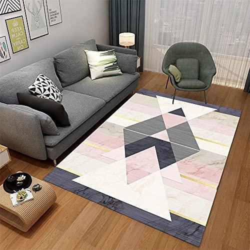 Tapeto Moderni Como Camera Da Letto Moderno Design grafico geometrico semplice moderno bianco grigio bianco rosa Tappeti Camera Da Letto 200X250cm