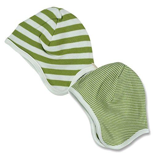 Pigeon-organics For Kids Bonnet Stripes Vert 0-5 m
