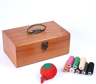 SHYPT Bois Solide rétro Petit Sac de Rangement à l'aiguille à Aiguilles Outil de Couture Aiguille (Color : Brown, Size : M...