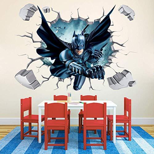 3D Dreidimensionale Gebrochene Wand Batman Batman Kinderzimmer Cartoon Wandaufkleber Iron Man Anime Aufkleber Fototapete Selbstklebend Tapete Wandtattoo