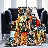 Agosto Alsina - Manta de forro polar suave y cómoda para sofá, cama de oficina, coche, campamento, acogedora y mullida manta de felpa