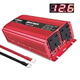 Yinleader 1500W/3000W Power Inverter Dual AC Outlets and Dual USB Charging Ports DC