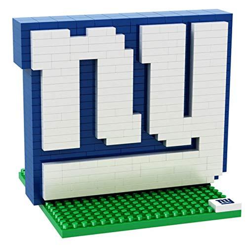 New York NY Giants NFL Football Team 3D BRXLZ Logo Puzzle