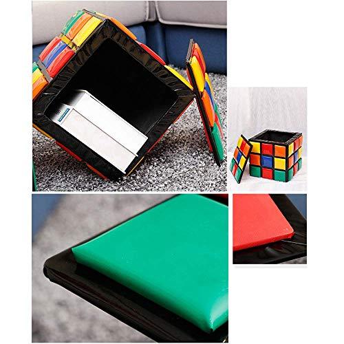 HEWEI Toy Box Reposapiés Vanity Stool Reposapiés PU Cojín de Cuero Impermeable Niños y Adultos Carga máxima Interior y Exterior 150KG Decoración Multicolor