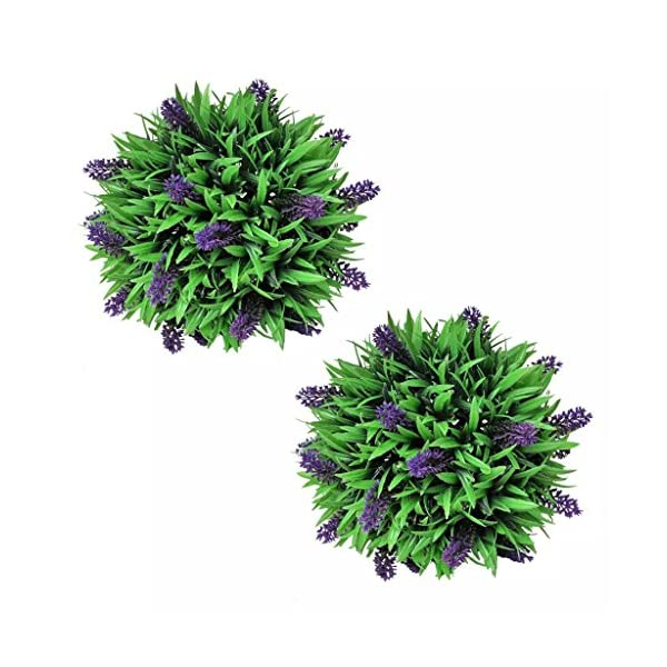 vidaXL 2X Bolas de Boj Artificiales 28 cm Arbusto de Jardín Planta Lavanda