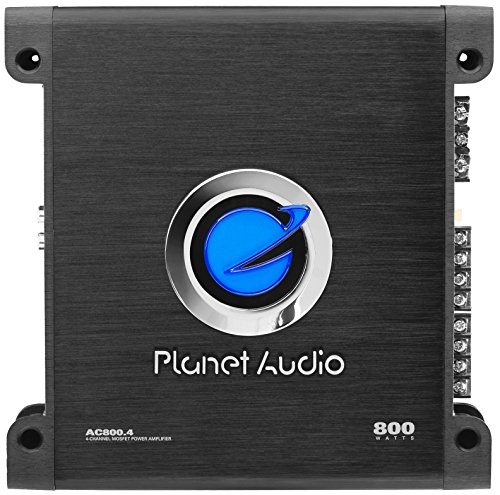 Planet Audio AC800.4 4 Channel Car Amplifier - 800 Watts, Full Range, Class A/B, 2-4 Ohm Stable, Mosfet Power Supply, Bridgeable