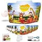 10 Eco-Gourdes Réutilisables Enfants 170 ml + Ebook de Recettes + Marqueur + Goupillon - NODI - Pratique...