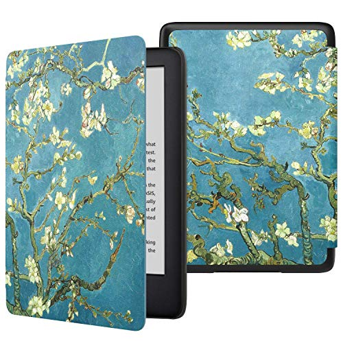 MoKo Funda para Kindle 10th Generation 2019 Release (Modelo No 9G29R), Cubierta Protectora con Smart Shell con Auto Sueño/Estela (No para Kindle Paperwhite) - Bloom de Albaricoque
