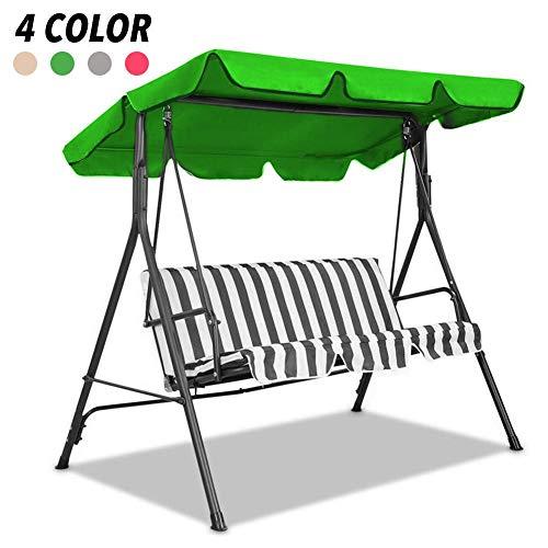 Swing Canopy - Copertura di ricambio per esterni, protezione dai raggi UV, impermeabile, decorazione per giardino, patio, parco, veranda, quattro colori, per 2/3 posti
