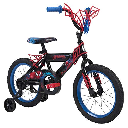 "Huffy Marvel Spider-Man 16"" Bike with WebTrap Handlebar Plaque"