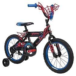 "in budget affordable Huffy Marvel Spider-Man 16 ""Bike with WebTrap Handlebar Plate"