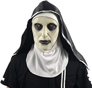 IUTOYYE Scary Nun Mask Halloween Bloody Virgin Mary Cosplay Party Costume Latex Head Mask