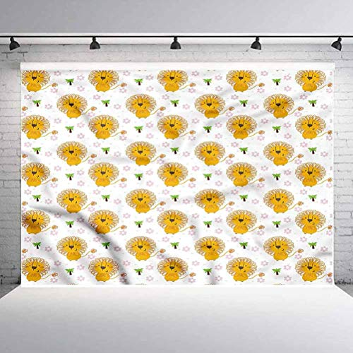 10x10FT Vinyl Wall Photography Backdrop,Lion,Palm Trees Flowers Tropical Photo Backdrop Baby Newborn Photo Studio Props