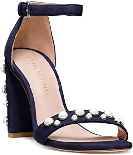 0b60ffa47d5 Stuart Weitzman Womens Morepearls Leather Open Toe Special Occasion Ankle  Str.