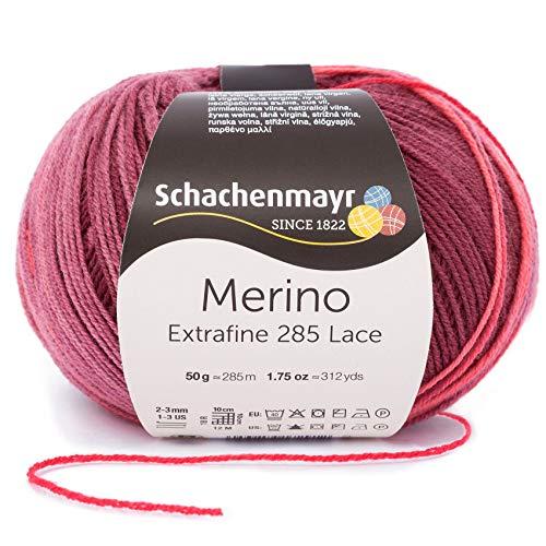 Schachenmayr Handstrickgarne Merino Extrafine 285 Lace, 50g Caberne