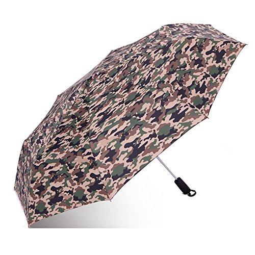 Regenschirm Camouflage Regenschirm automatische Selbstöffnung erhöhen Doppelschirm automatische Regenschirm Verstärkung großen Regenschirm Taschenschirm (Farbe : 3)