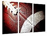Tableau photo sport ballon rouge rugby football américain ballon dimension totale 97 x 62 cm XXL