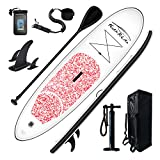 FEATH-R-LITE Inflatable 10'30'6' Ultra-Light (16.7lbs) SUP for All Skill Levels Everything Included with Stand Up Paddle Board, Adj Paddle, Pump, ISUP Travel Backpack, Leash, Waterproof Bag