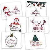 Kuuqa 36 piezas de tarjetas de Navidad con 36 sobres y 36 pegatinas (6 diseños)